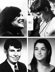 Photos of the 4 dead at Kent State on May 4 1970